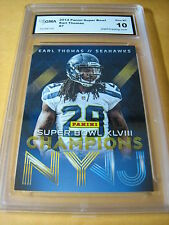 EARL THOMAS SEAHAWKS 2014 PANINI SUPER BOWL XLVIII CHAMPIONS # 7 GRADED 10