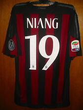 MBAYE NIANG MATCH WORN ISSUE HOME SHIRT 2015/16 AC MILAN SERIE A TIM VERSION