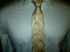 Mens VIVIENNE WESTWOOD 100% Silk Tie. Champagne and Cream Colours
