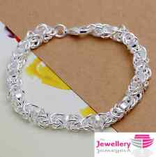 925 Sterling Silver Longtou Multi Hoop Bracelet Jewellery Womens Ladies Gifts