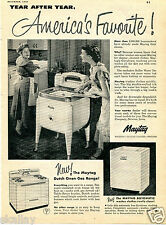 1950 Print Ad of Maytag Automatic Washer & Dutch Oven Gas Range