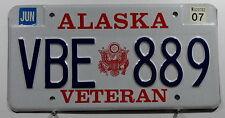 """USA Nummernschild Alaska """"Veteran"""" von der Army. 8178."""