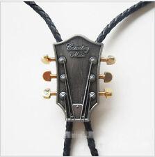 Rock Mens Western Cowboy Bolo Tie Necklace Rodeo Dance Bola Tie Bootlace Tie