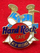 HRC Hard Rock Cafe New Orleans Blue Drum Set Red Logo 3LC