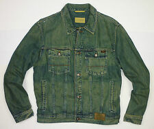 "CAMEL ACTIVE MEN'S PREMIUM VINTAGE DENIM JEAN JACKET SIZE EXTRA LARGE UK43""/44"""