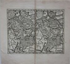 1661 GERMANIAE INTER RHENUM ET ALBIM map Philipp Cluver Deutschland Germany