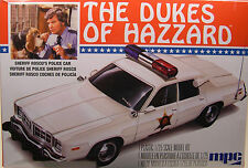 MPC 1:25 SCALE ROSCOE POLICE CAR FROM THE DUKES OF HAZZARD PLASTIC MODEL KIT