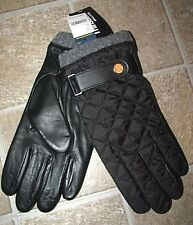 Men's $78 (M) POLO-RALPH LAUREN Quilted Black Leather Gloves