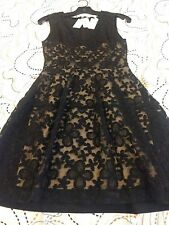 NWT Maje Black Lace Dress Size 1 Retail $470
