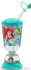 Disney Store Princess Ariel Snowglobe Tumbler with Straw The Little Mermaid New