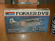 WW#1, GERMAN-  FOKKER DVII, Fighter Plane, Plastic Model Kit, Scale:1/48