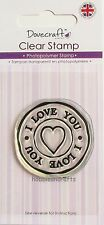 DOVECRAFT SMALL CLEAR CLING STAMPS - DCSTP015 - I LOVE YOU