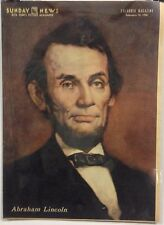 Abraham Lincoln Insert Cover from New York's Picture Newspaper - Feb. 12, 1956