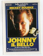 cartolina scheda Ciak JOHNNY IL BELLO MICKEY ROURKE