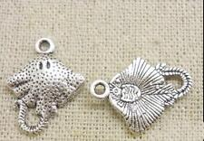 10 Antique Silver Ray Manta Charms Stingray Charms Fish Skate LF NF Fishes 20mm