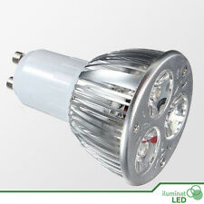 Bombilla LED GU10 3*3W High Power Blanco Puro AC 220V - Únicamente 9W.