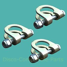 Land Rover Defender Track Rod End Ball Joint Clamp & Bolt  Kit x 3