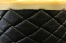 "Vinyl Upholstery black diamond Quilted fabric with 3/8"" Foam Backing by yard"