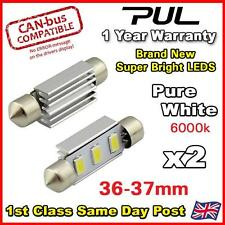 NUMBER PLATE BULBS LIGHTS LED BRIGHT PURE WHITE AUDI TT A6 A4 A5 TT CANBUS 36MM