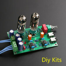 Class A 6J5 Vacuum Tube Pre-amp Preamp HiFi 3.5mm Headphone Amplifier DIY KIT