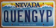 Nevada 2012 VANITY License Plate QUEEN GYPSY