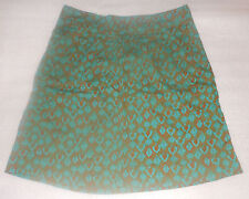 NWT Eddie Bauer Women's Peacock Print Knee-Length Skirt - Size 2 Regular NEW