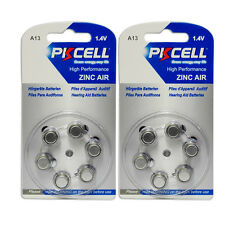 12PCS(2 Packs) Zinc Air Hearing Aid Battery A 13 A13 7000ZD PR48 13A AC13E 13SA