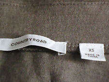 COUNTRY RD ShortStretchPanelled100%WoolShortStretchSkirtSzXS