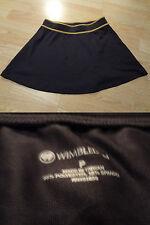 Women's Wimbledon P Black & Gold Golf Skirt