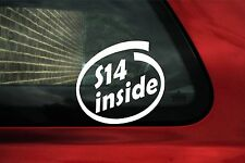 2x S14 inside sticker.For BMW e30 M3 2.3 /2.5 and 320is
