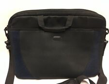 "Targus 17"" Computer Briefcase Bag Black & Blue Notebook Laptop Case w Strap ��"