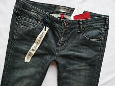 River Island skinny jeans dark blue ankle grazers tuck in boots 36/28 16 S