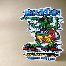 Small size - Vinyl Decal Sticker Rat Fink Skateboarding Is Not A Crime [RF001]