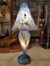 Lampe pâte de verre bleue contemporaine signé Arnold pour Arnold Cognet 20705