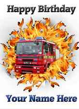 Fire Engine car Happy Birthday A5 Personalised Greeting Card pid250 fire ring
