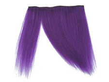 CLIP-IN HUMAN HAIR FRINGE BANGS CYBERLOX NEON PURPLE UNCUT 8""