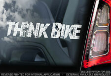 THINK BIKE! - Car Window Sticker -  Valentino Rossi - PROCEEDS TO CHARITY - TYP2