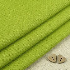 Robert Kaufman Washer, pear green linen blend fabric / quilting leaf lime vivid