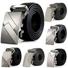 Mens Leather Automatic Buckle Belts Fashion Waist Strap Belt Waistband New