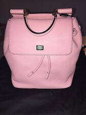 Dolce & Gabbana Miss Sicily Leather Handbag/Backpack Pink - NEW 100% AUTHENTIC
