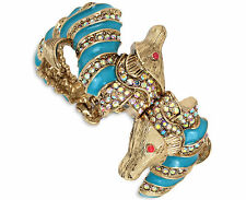 NWT Auth Betsey Johnson 'The Sea' Blue Sea Horse Hinged Bangle Bracelet $95