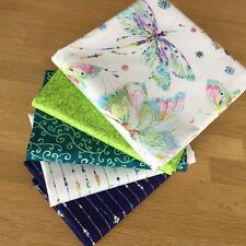 MARIPOSA Fat Quarter Bundle LIME by Quilting Treasures Butterfly Jewel Fabric