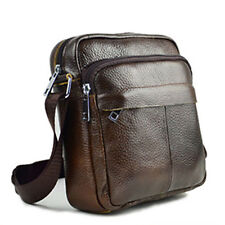Men's Leather Crossbody Messenger Shoulder Bags Handbag Satchel Casual Day Bag