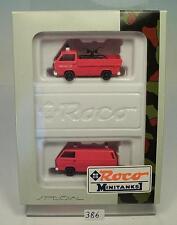Roco 1/87 No. 629 Set VW T3 US Feuerwehr OVP #386