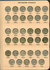 1938 - 2008 Jefferson Nickels Coin Set Collection & 7113 Dansco Album - AC349