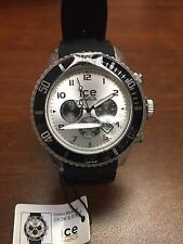 ICE  CHRONO BLACK SILICONE Men's watch CH.BK.B.S.09 NEW