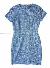 New J.CREW Tweed Shift Dress with Buttons and Blue Accent Threads Women's Size 6
