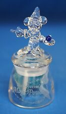 Mickey Mouse Sorcerer Magic Dust Figurine Crystal Jar Holder Disney Arribas Bros