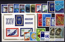 UN - NY . 1970 & 1971 Stamps (203-225) . Mint Never Hinged