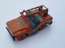 VINTAGE  JEEP FIRE ENGINE  JAPAN UNKNOWN  ALPS BANDAI ?